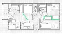 Káposztásmegyer eladó 4 szintes ház 2. emeletén egy 55m2-es 1+2 félszobás lakás ingatlan hirdetéshez feltöltött kép