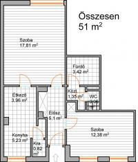Eladó Zuglóban egy 51m2-es két szoba étkezõs 51m2-es lakás ingatlan hirdetéshez feltöltött kép