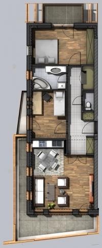 Hajdúszoboszló eladó 68m2 új építésû társasházi lakás gázszá ingatlan hirdetéshez feltöltött kép