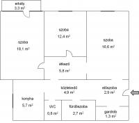 Budapest XV. ker eladó lakás 71m2 3 szoba Nyírpalota utca 10. emeleti ingatlan hirdetéshez feltöltött kép