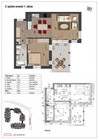 Veresegyház eladó 52,1 m2 lakás 2 szoba új építésű termálvíz fűtés ingatlan hirdetéshez feltöltött kép