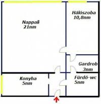 Budapest IV került kedvező áron eladó lakás 46m2 1+1+gardrób ingatlan hirdetéshez feltöltött kép